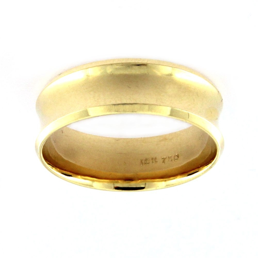 Wedding Band in Yellow Gold 18k